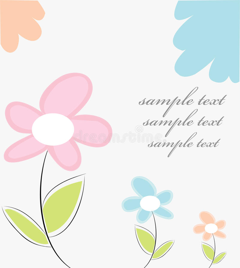 Download Art deco floral card stock vector. Image of clip, image - 14611073