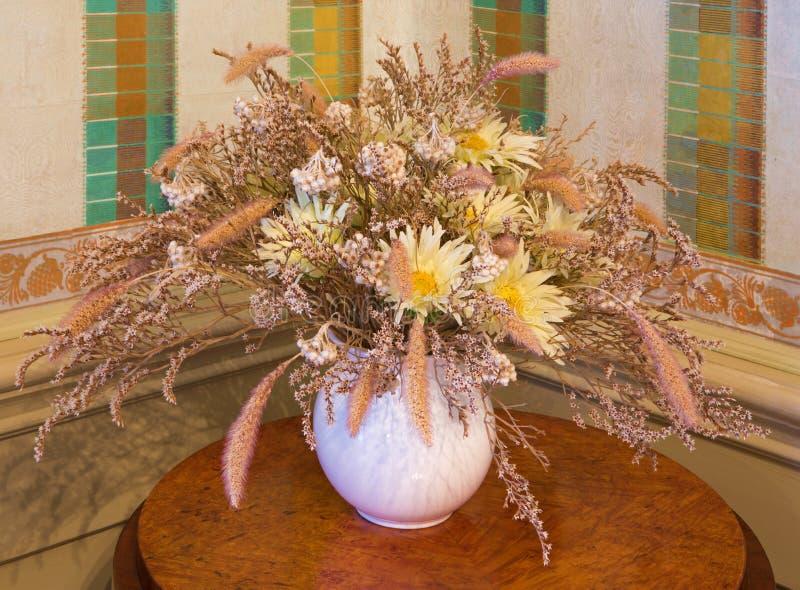 Art deco flower decoration stock photos