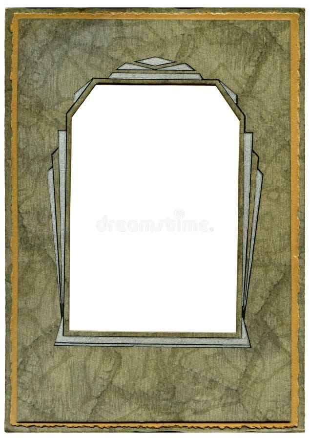 Art deco frame. Vintage Art deco cardboard frame stock photos