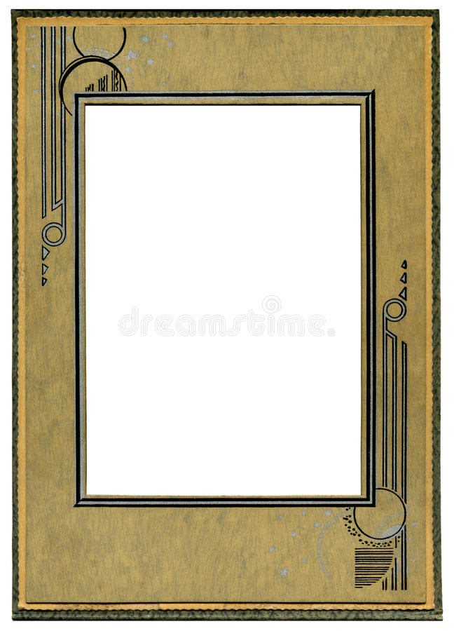 Art deco frame. Vintage Art deco cardboard frame royalty free stock photos