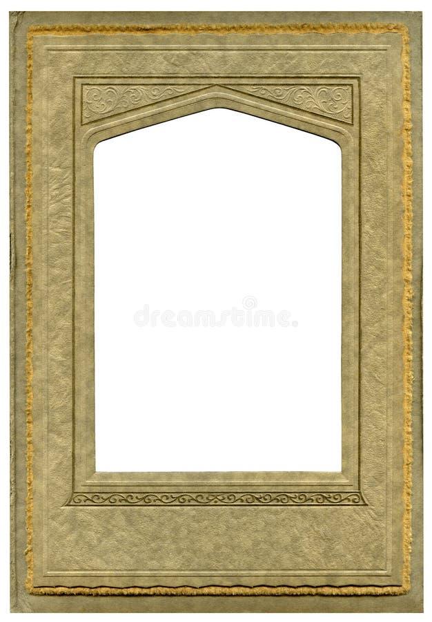 Art deco frame. Vintage Art deco cardboard frame stock images