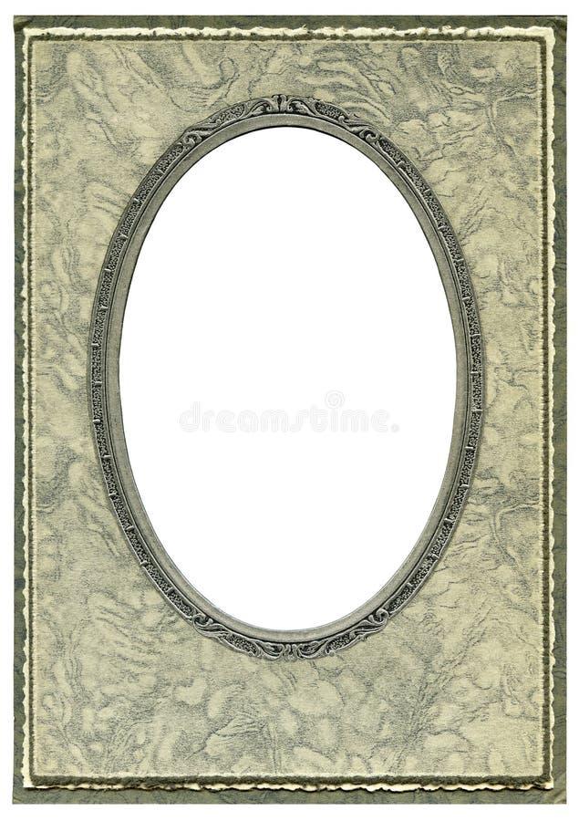 Art deco frame. Vintage Art deco cardboard frame stock image