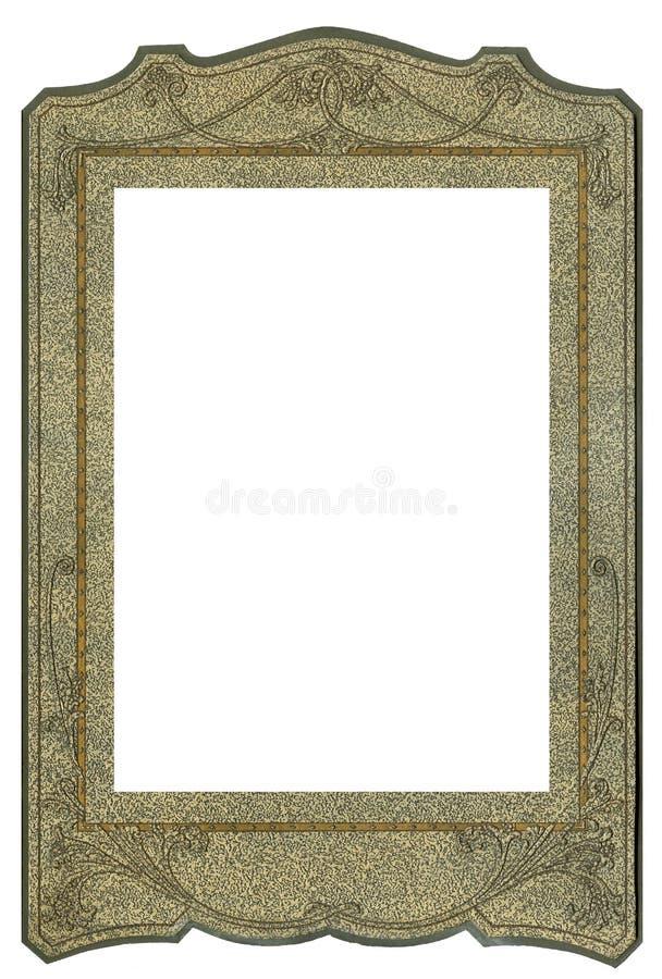Art deco frame. Vintage Art deco cardboard frame stock photo