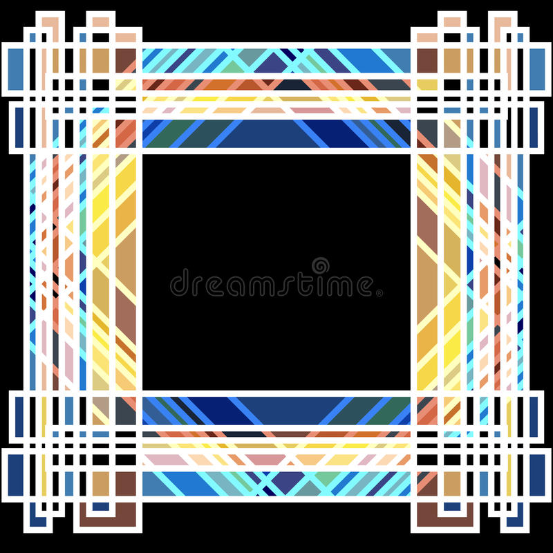 Art Deco Frame 2 royaltyfri illustrationer