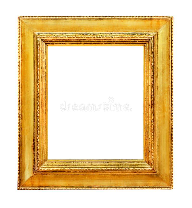 Art-deco frame. Golden frame on white background stock photography
