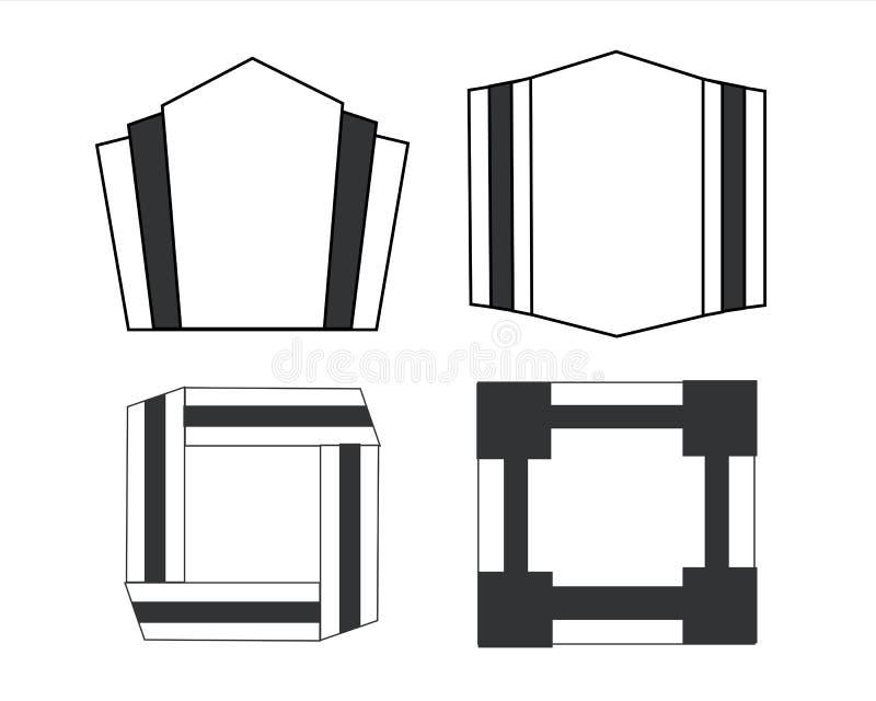 Art Deco Frames 1 ilustración del vector