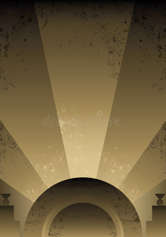 Art Deco Futurist style background design stock illustration