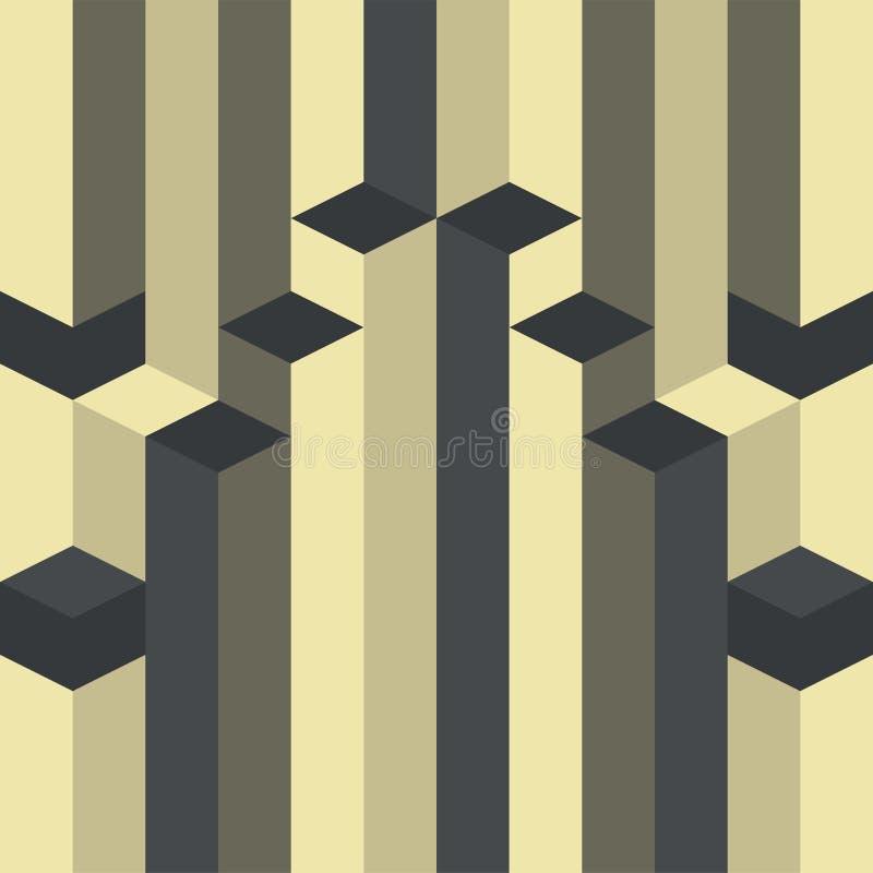 Art deco gótico do vetor geométrico abstrato do teste padrão ilustração stock