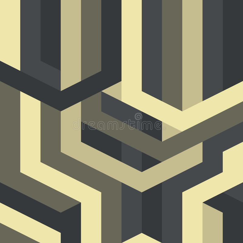 Art deco gótico do vetor geométrico abstrato do teste padrão ilustração royalty free