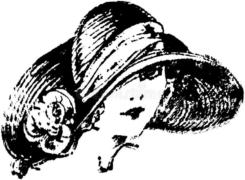 Art Deco Gal ilustração do vetor