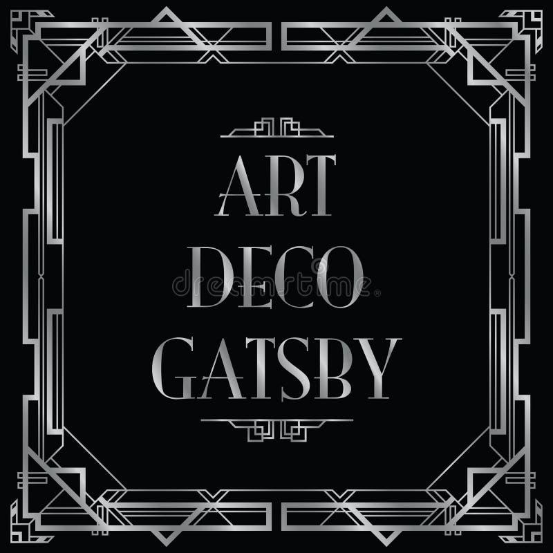 Art Deco gatsby lizenzfreie abbildung