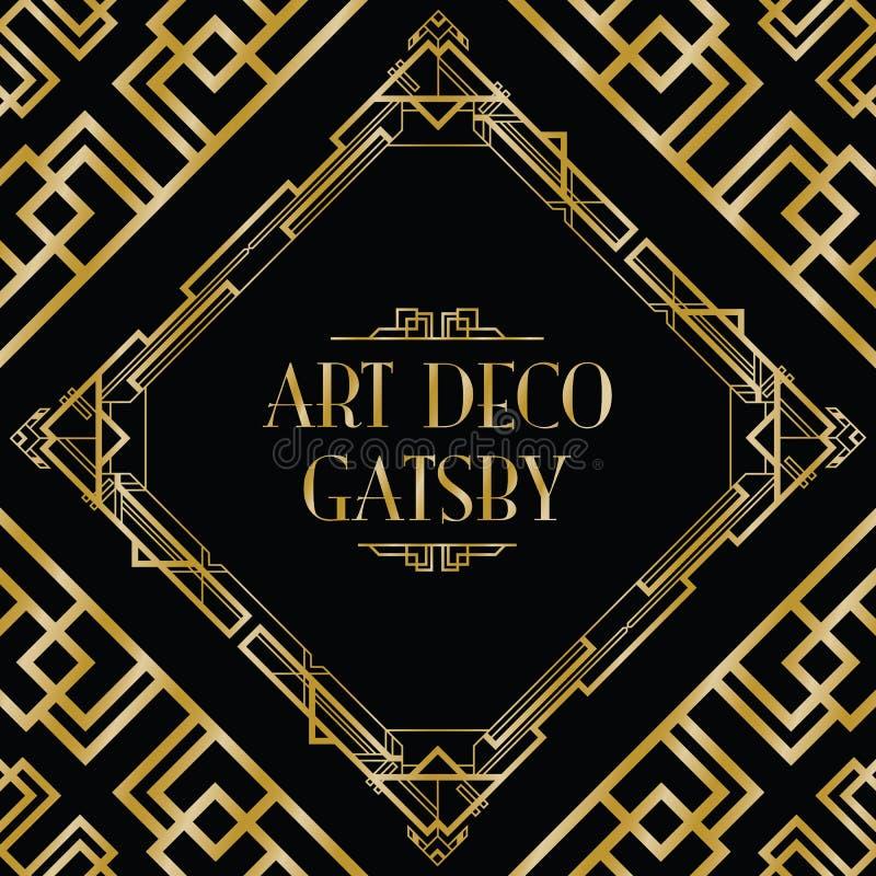 Art deco gatsby stijl royalty-vrije illustratie