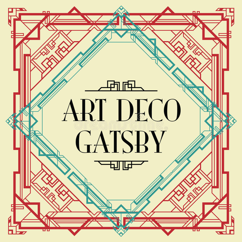 Art deco gatsby style royalty free illustration