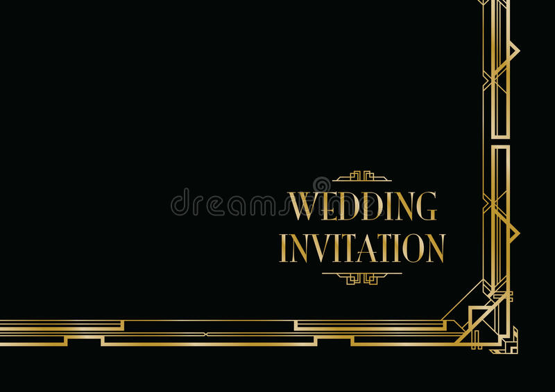 Art deco gatsby style stock vector illustration of invitation art deco gatsby style background stopboris
