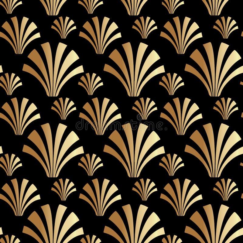 Art Deco Gatsby Style Shell modellbakgrund royaltyfri illustrationer