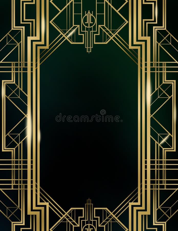 Art Deco Gatsby Wielki tło royalty ilustracja