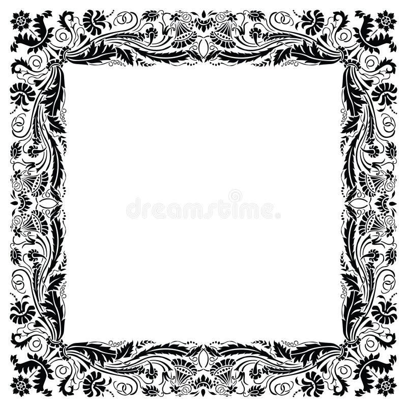 Art deco Geïnspireerda Gouden Frame stock illustratie