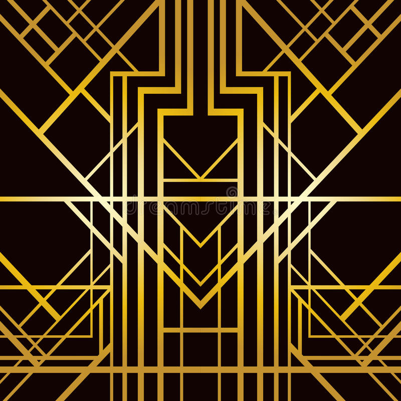 Art deco geometric pattern royalty free illustration