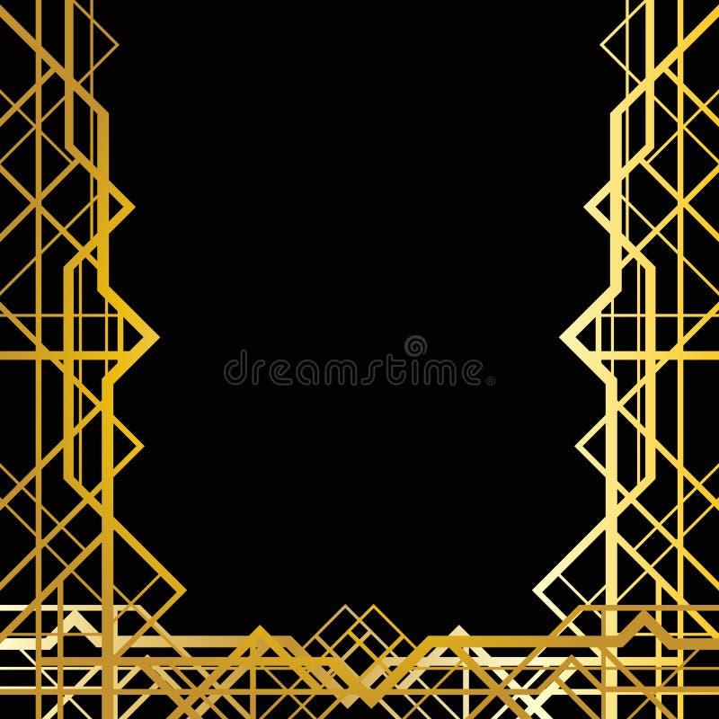 Art deco geometrisch kader stock illustratie