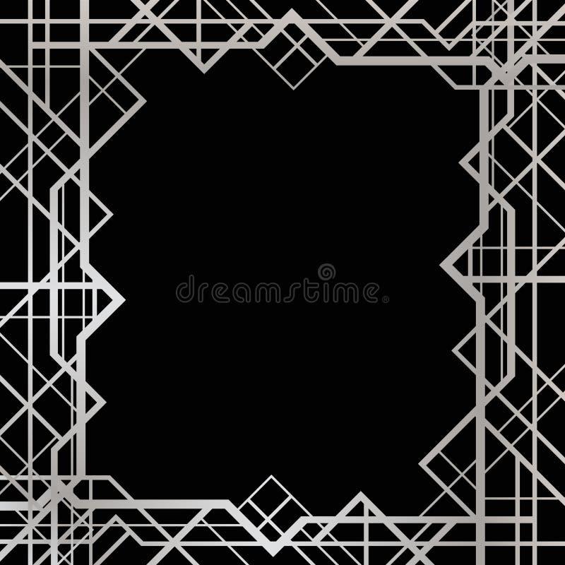 Art deco geometrisch kader royalty-vrije illustratie