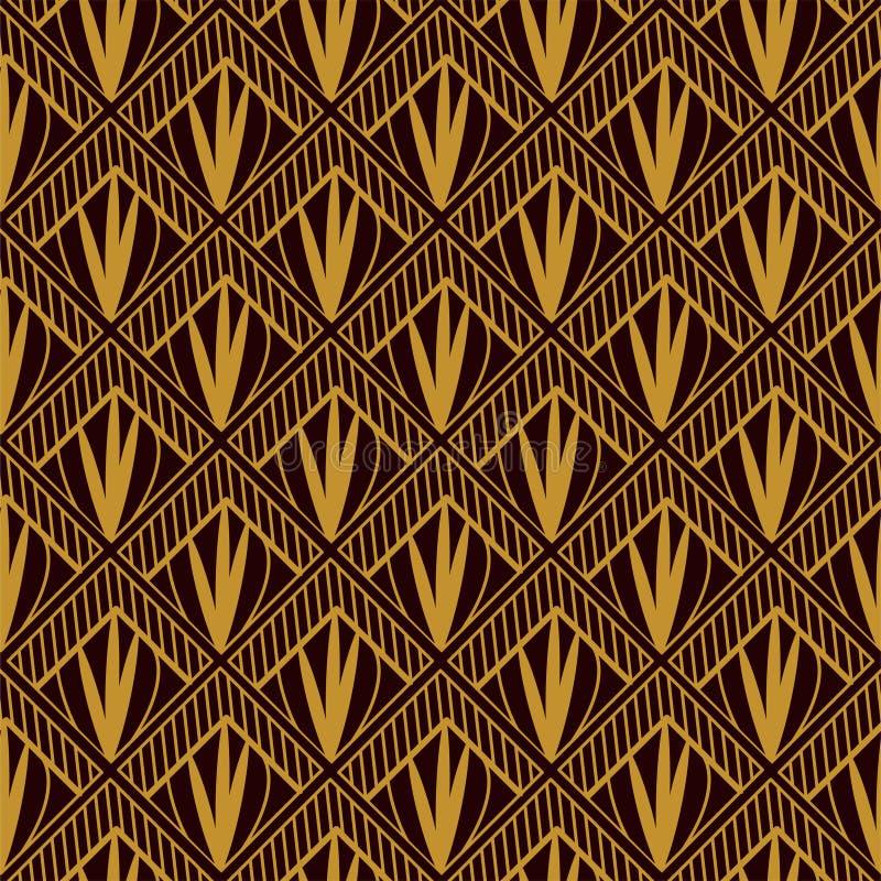 Art deco geometrisch patroon royalty-vrije illustratie