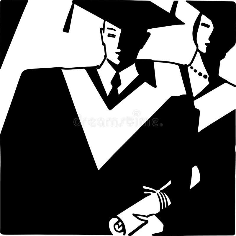 Art Deco Grads stock illustratie