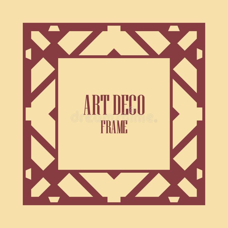 Art Deco granicy rama zdjęcia stock