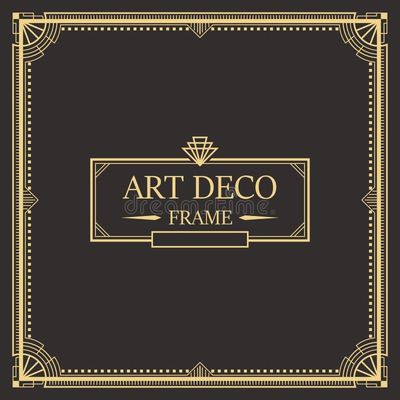 Art Deco granicy rama vector05 ilustracji