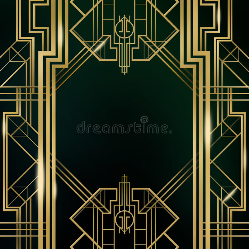 Art Deco Great Gatsby Background illustrazione vettoriale