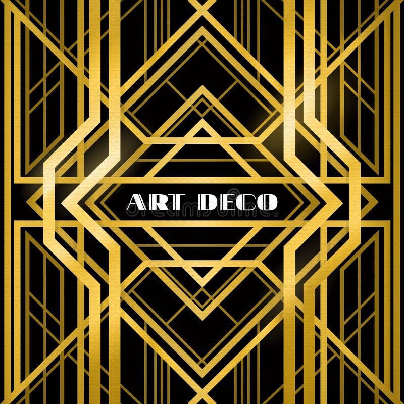 Art Deco grille ilustracja wektor