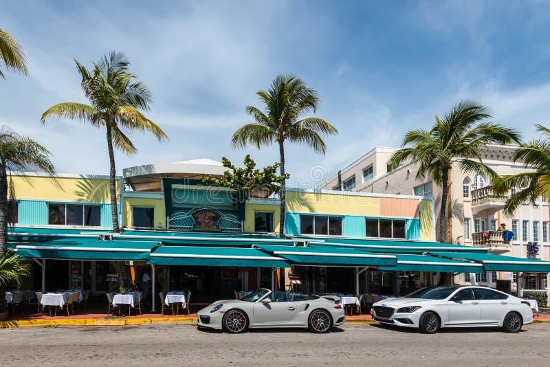 Art Deco Historyczny okr?g w Miami pla?y: Po?udnie pla?a, Floryda, Zlany Startes Ameryka fotografia royalty free