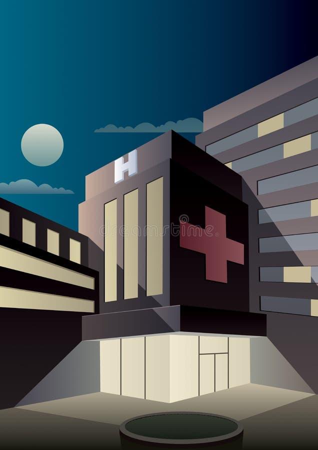 Art Deco Hospital illustrazione vettoriale