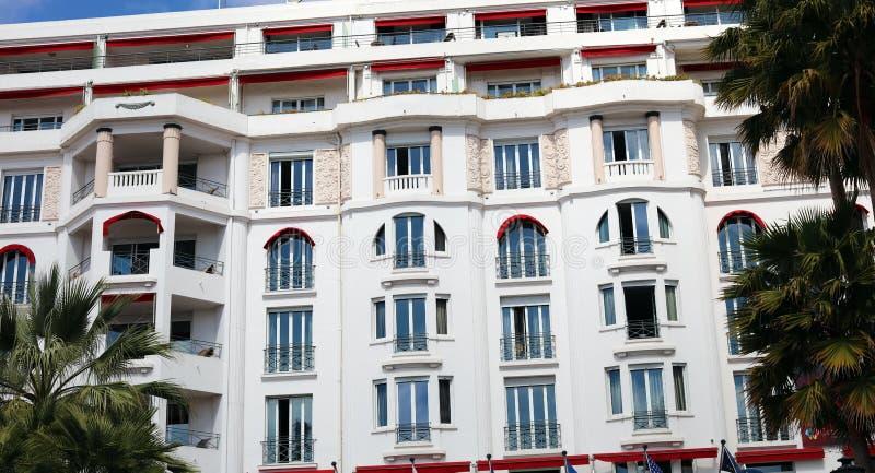 Art Deco hotel in Cannes French riviera, mediterranean coast, Eze, Saint-Tropez, Monaco and Nice. French riviera, Côte d`Azur, mediterranean coast Nice, Eze royalty free stock photo