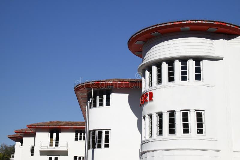 Art Deco Hotel, Miami. stock photos
