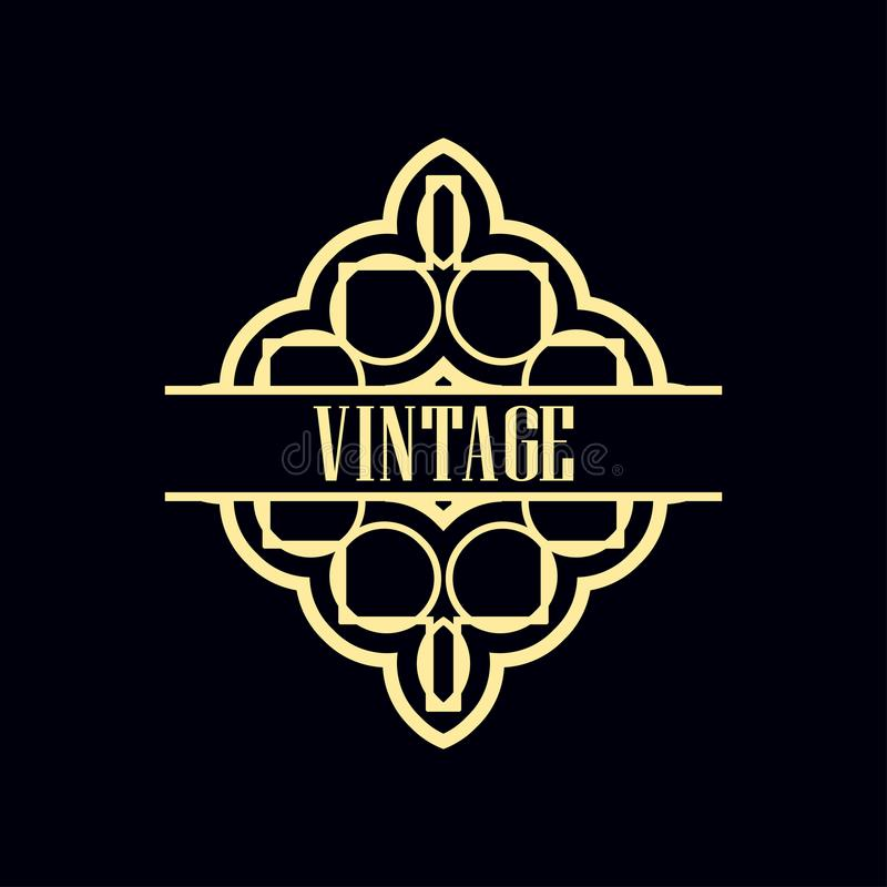 Art Deco Label royalty free illustration