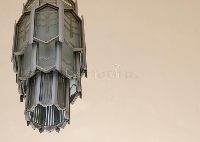 Art Deco Lamp - offset. Offset art deco lamp. Background stock photos