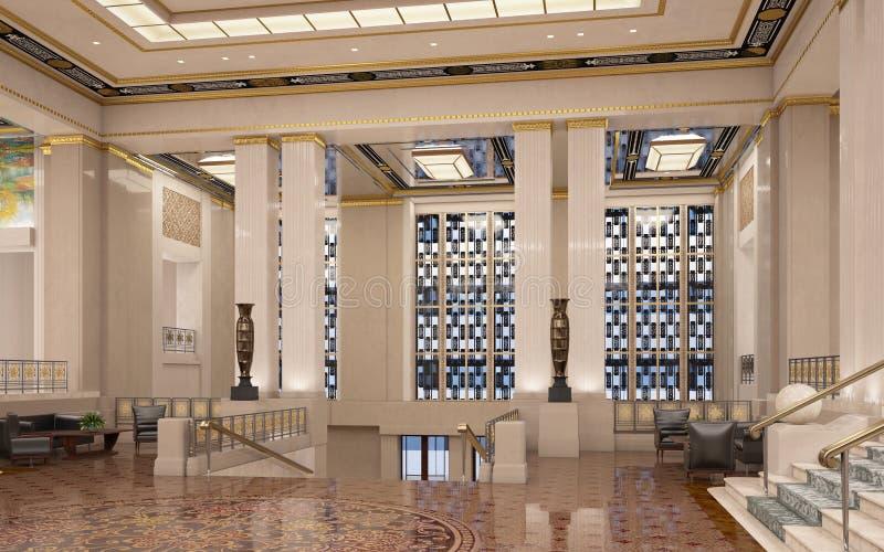 Art Deco Lobby royalty-vrije illustratie