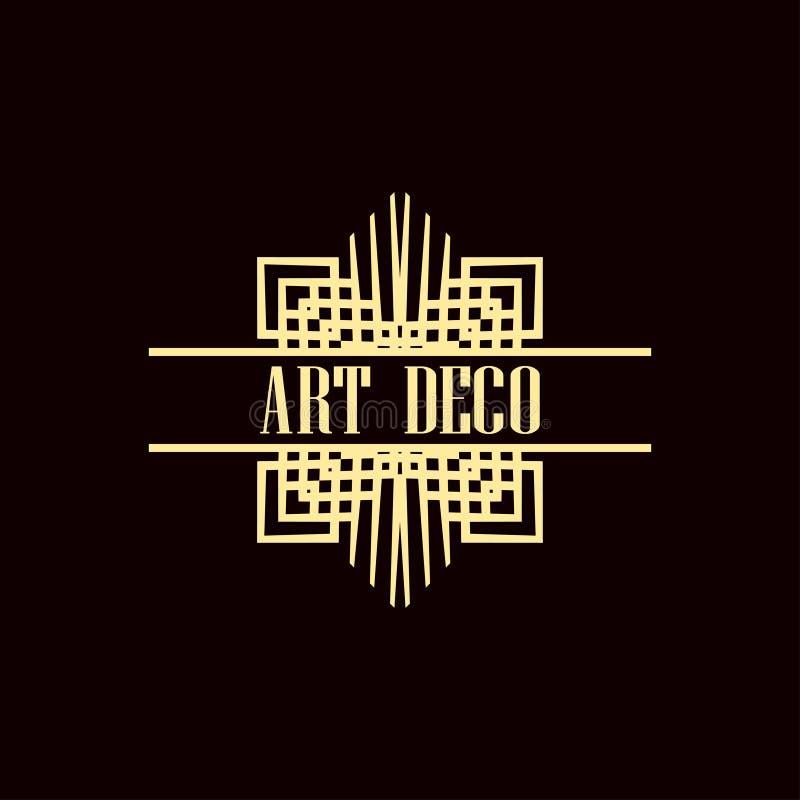 Art Deco logo obraz royalty free