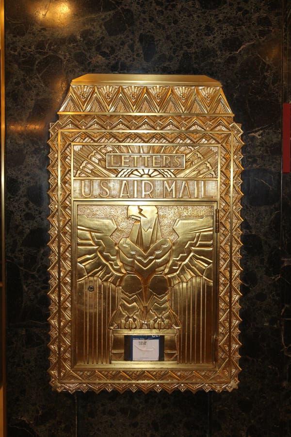 Art Deco Mailbox, de Één Bouw van het Noordenlasalle, Chicago stock afbeeldingen