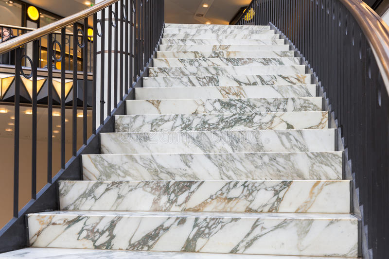 Art deco marble stairs stock photos