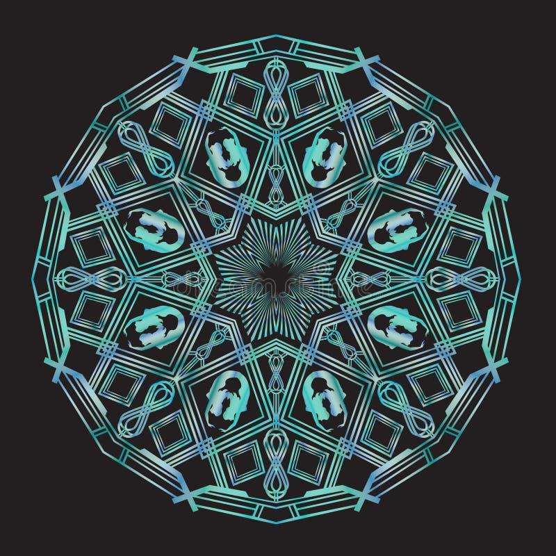 Art Deco Mermaid Bowsprit Mandala libre illustration