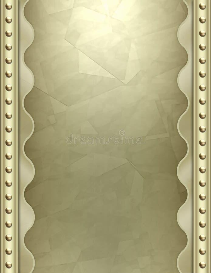 Art Deco metallic background stock images