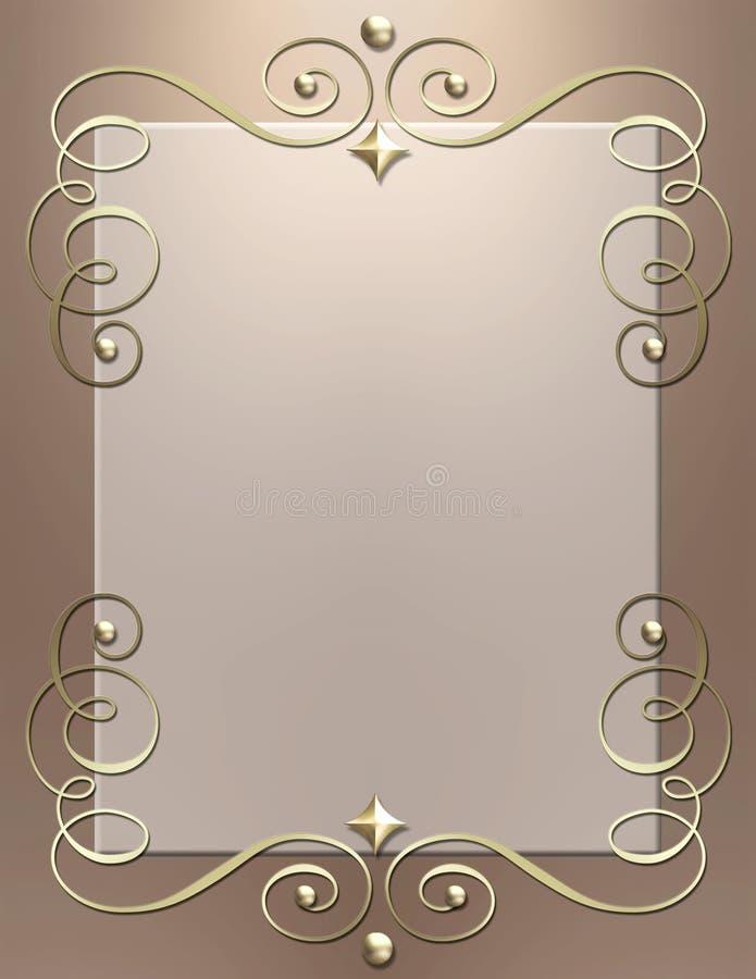 Art Deco metallic swirl frame royalty free stock photos