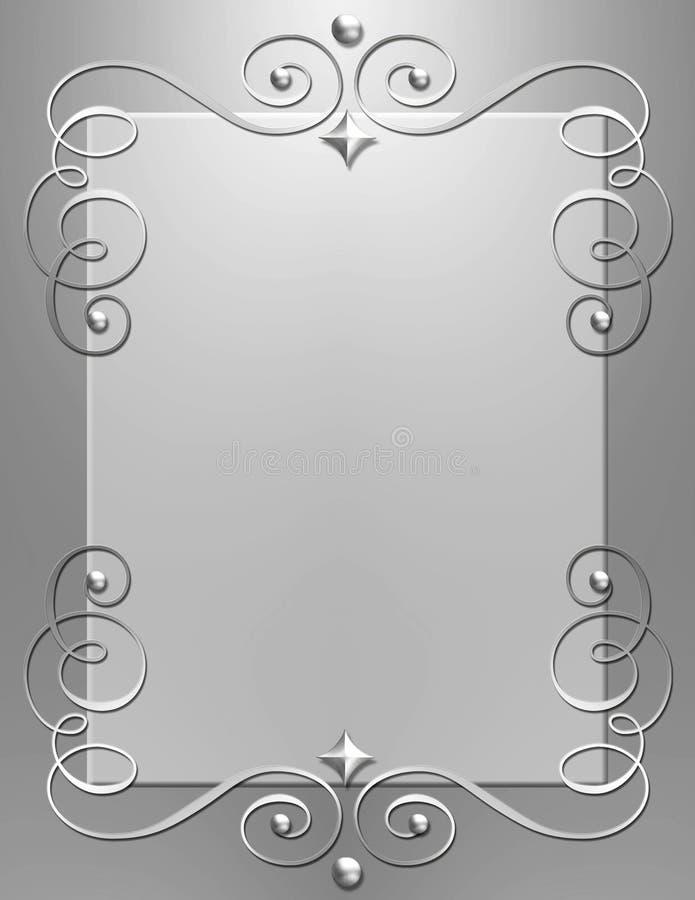 Art Deco metallic swirl frame royalty free stock images