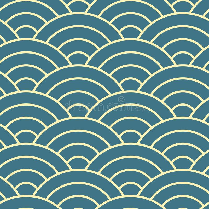 Art Deco mody bezszwowy prosty wz?r Wielostrza?owy nowo?ytny luksusowy minimalny geometryczny linebackground Retro i rocznik ilus royalty ilustracja