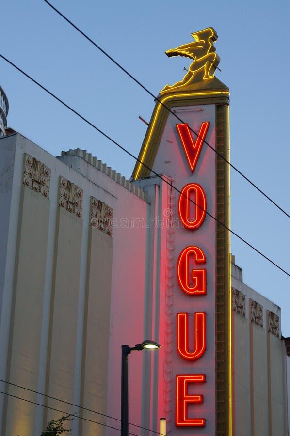 Art Deco mody neonowi światła obraz stock