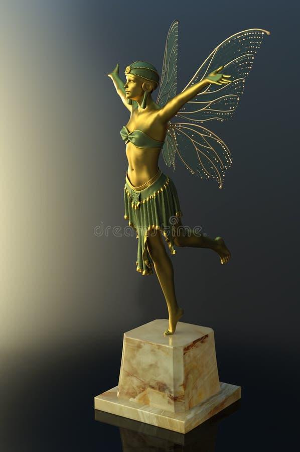 Art Deco motyla figurka ilustracja wektor