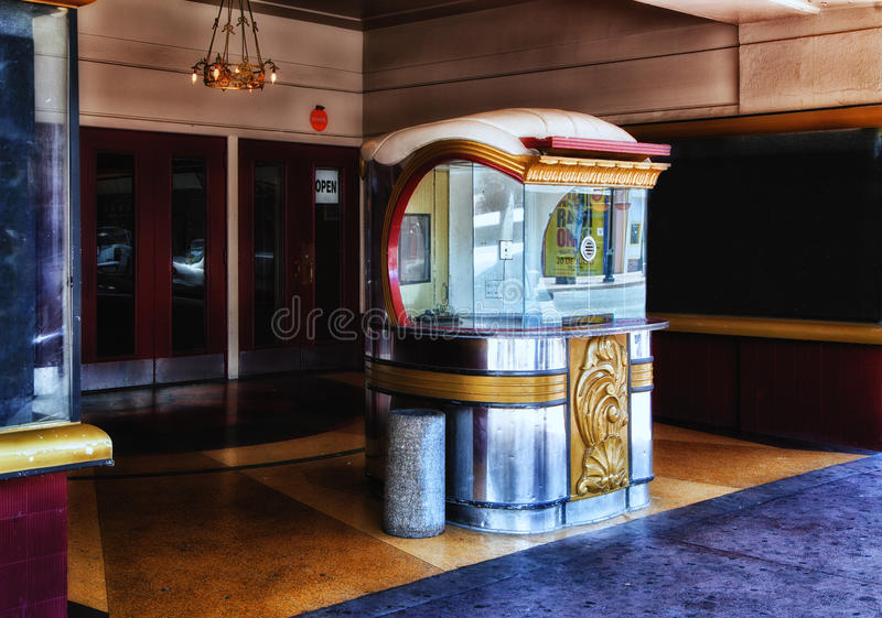 Art Deco Movie Theater Entrance royalty free stock image