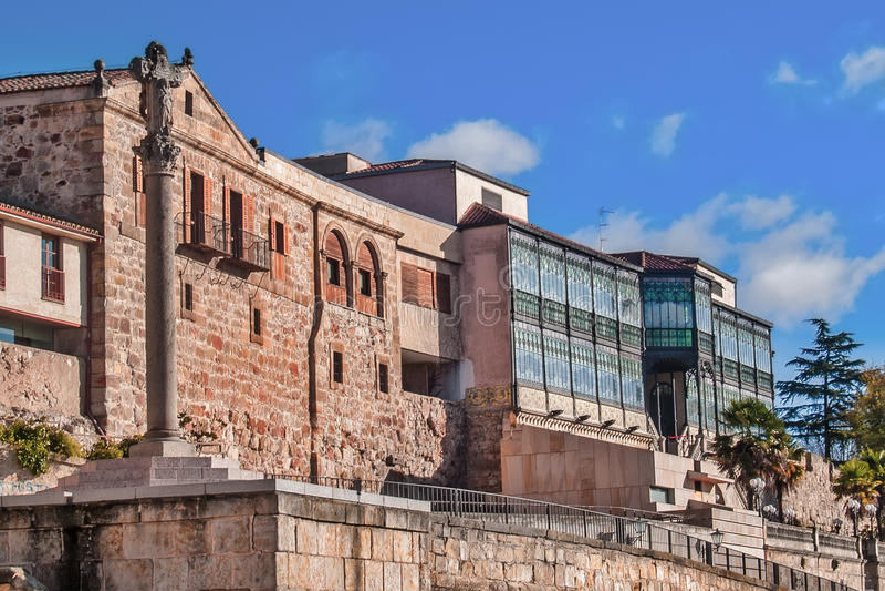 Art deco museum side in Salamanca stock photos