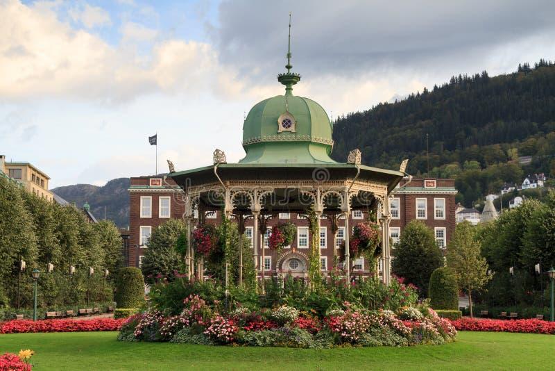 Art Deco Music Pavilion, Bergen stock fotografie